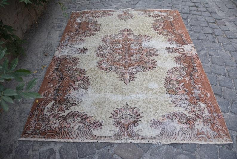 Tapis tapis marron tapis blanc poignées art déco tapis | Etsy