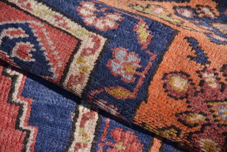 Decorative Rug 3.4x5 ft Vintage Rug Code 7546 Antique Rug Oriental Wool Rug Turkish Rug Organic Rug Anatolian Rug Area Rug Old Rug