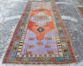 Free Shipping 4.3u0027 X 10.6u0027 Floor Runner Turkish Stair Runner Faded Vintage  Rug Antique