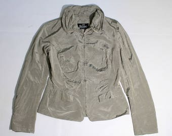 vintage HERNO authentic women's silver Jacket SIZE 44 (S)