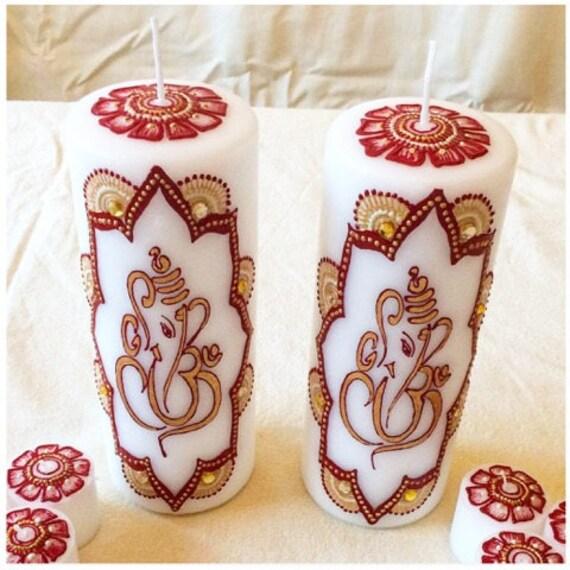 Ganesh Henna Candles Etsy
