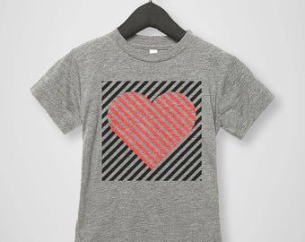 Heart Tee - Kids Valentine Shirt - Toddler and Youth T-shirt - Boy Valentine Shirt - Valentine's Day Gift - Kids Heart Shirt - Trendy Heart