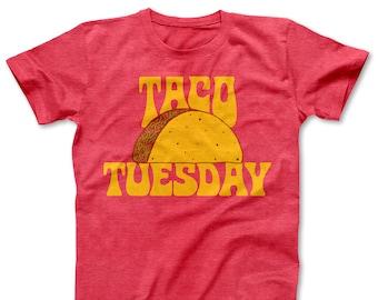 13872fb1 Taco Tuesday / Taco Shirt / Women's Shirts / Men's Shirts / Women's Clothes  / Men's Clothes / Taco Party T-shirt / Fiesta Tee / Retro Shirt