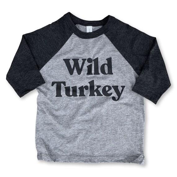 793d83b18c3a8 Wild Turkey Baseball T-shirt - Boys and Girls Raglan Tee - Toddler and  Youth Baseball Shirt - Wild Turkey shirt - Kids Thanksgiving Shirt
