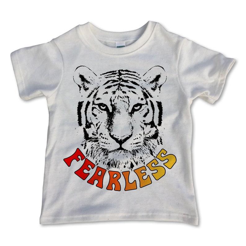3bba7c141f46b Fearless / Kids Clothes / Boys Shirts / Girls Shirt / Toddler Clothes /  Children's Clothes / Kids Shirt / Tiger T-shirt / Brave & Courageous