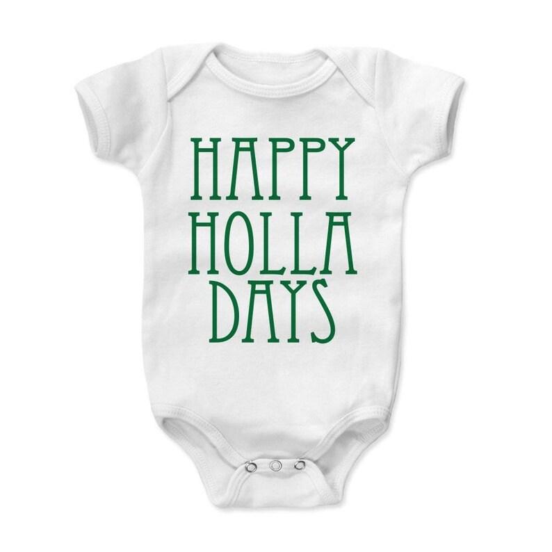 Custom Holiday Newborn Baby Onesie