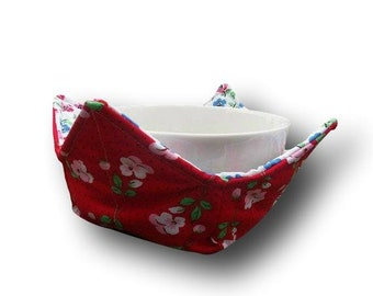 Bowl Hot Pad, Soup Bowl Cozy ,Bowl Cozy, Microwave Bowl Holder, Bowl Hot Pad, Bowl Potholder, Microwave Safe, Potholder, Hot Bowl Pad