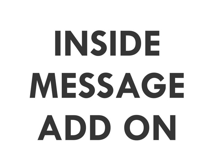 Inside Message ADD ON Order