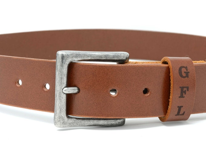 Mens Leather Belt. Gift for men. Custom personalized Sedgwick English Bridle leather belt with secret message