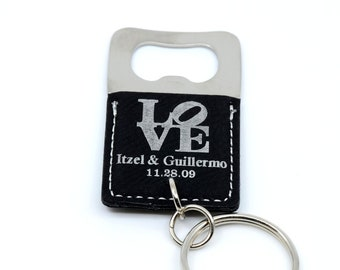Personalized keychain bottle opener, wedding favors, wedding gift, wedding favours