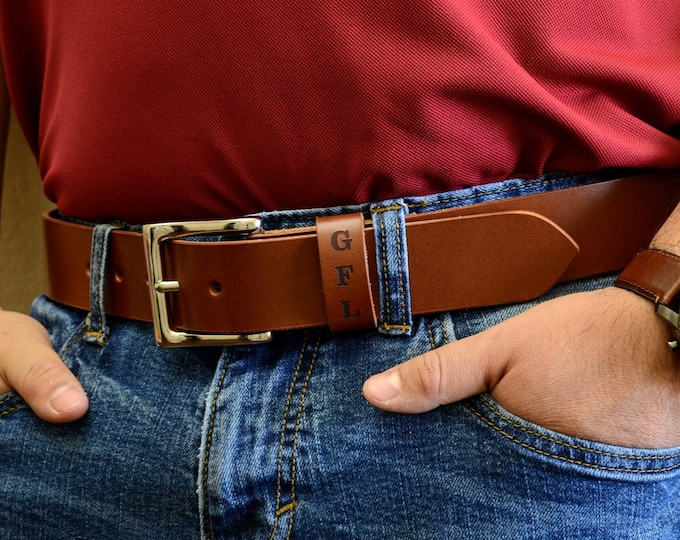Mens Leather Belt, Leather Anniversary Gift, Boyfriend Gift, Groomsmen Gifts, Dad Gift, Fathers Day Gift, Real Handmade Leather Belt