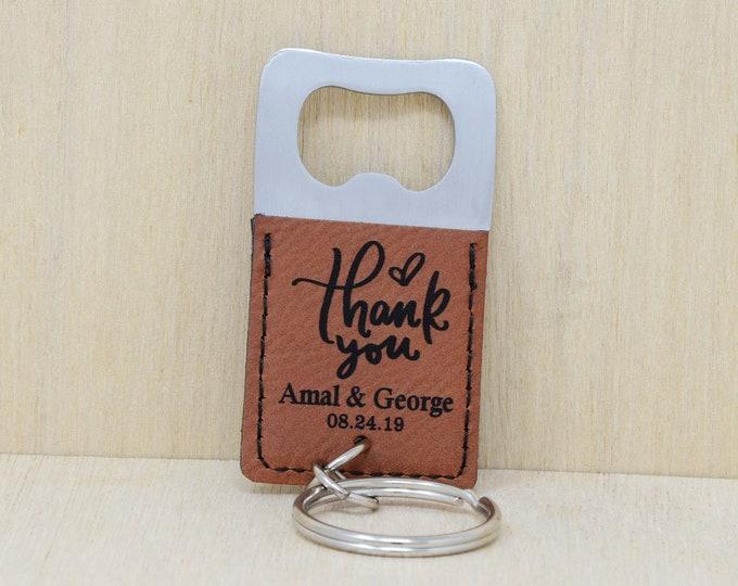 Personalized keychain bottle opener, wedding favors, wedding gift, wedding favours