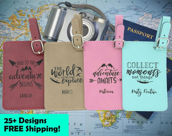 Featured listing image: Luggage Tag Tags Personalized. Travel Gifts Accessories Gift.