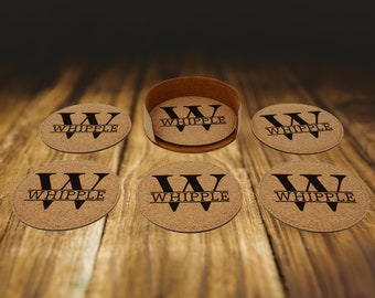 Personalized Coasters Set, Housewarming Gift Coaster Set, Fathers Day Gift, Groomsmen Gift, Bridesmaid Gift
