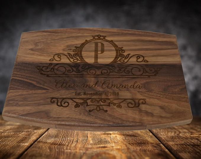 Laser Engraved Cutting Board Wedding Gift, Engraved Cutting Board Personalized, Custom Cutting Board with Juice Groove Wedding Cutting Board