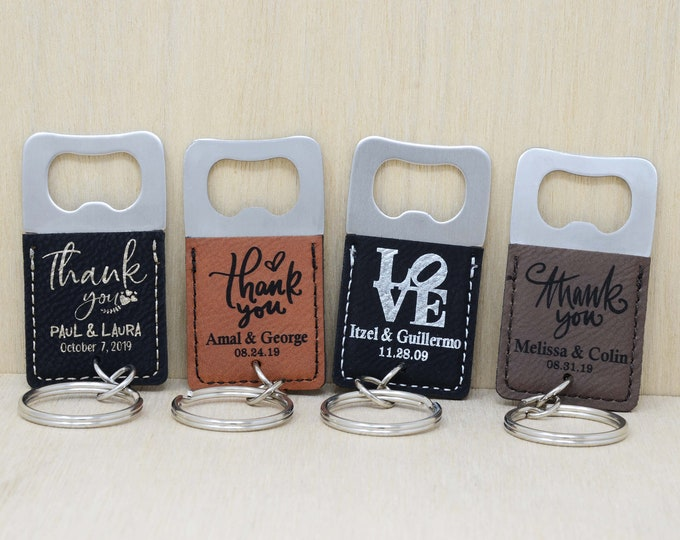Personalized Bottle Opener Keychain. Wedding Favours, Wedding Favors for Guests in Bulk. Bridal Shower Wedding Favor