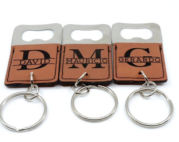 Custom keychain bottle opener, groomsmen gift, wedding favors