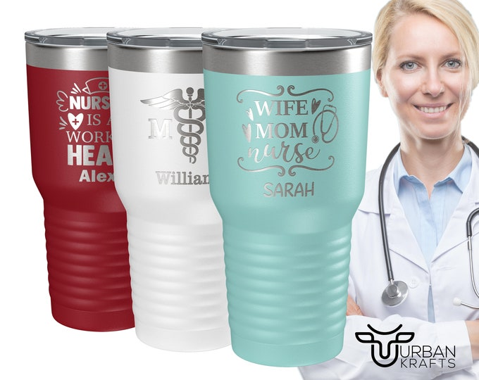 Nurse Gift, Doctor Gift, Nurse Tumbler, Nurse Mug, Gifts for Nurses, Doctor Mug, Personalized Tumbler with Straw, Custom Tumbler