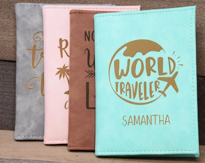 Passport Holder, Passport Cover, Passport Wallet, Passport Case personalized with RFID, Travel Wallet Gifts, Couples gift, Christmas Gift