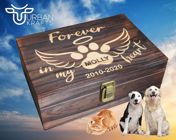Pet Memorial Gift Box, Dog Memorial, Pet Urn, Cat Memorial, Dog Urns for Ashes, Pet Loss Gift, Pet Memory Box, Pet Sympathy Gift