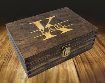 Personalized wood gift box, wooden box, keepsake box, groomsmen gift box