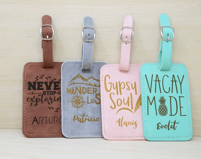 Luggage Tag Tags Personalized. Travel Gifts Accessories Gift.