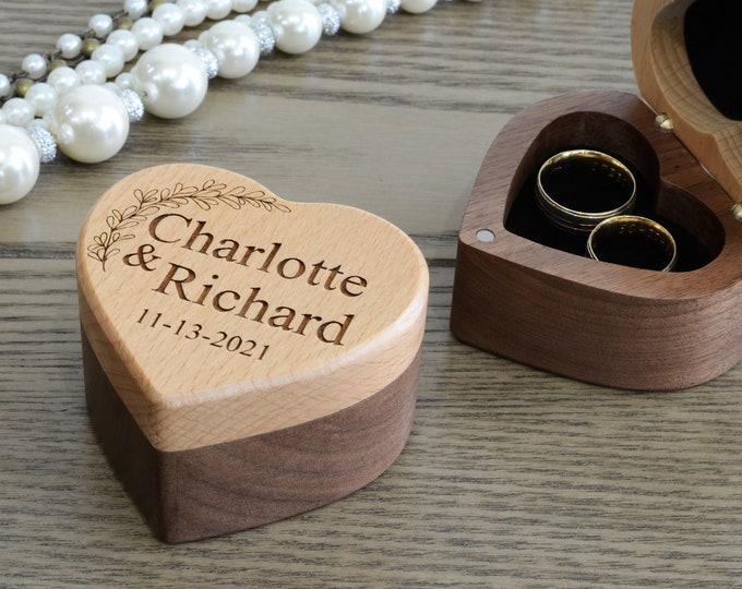 Wedding Ring Box, Ring Bearer Ring Holder, Ring Box Wedding, Wooden Ring Box, Ring Box Wedding, Wedding Ring Holder, Personalized Ring Box