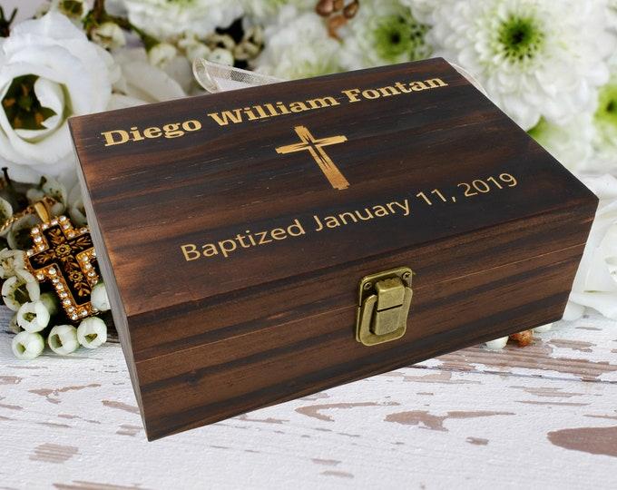 Baptism Gift, Baptism Memory Box, Baptism Gift Girl, Baptism Gift Boy, Keepsake Wooden Box,