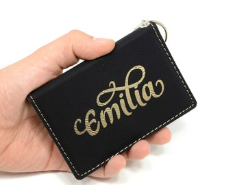 Wallet women bridesmaid gift, id holder wallet, keychain wallet, womens wallet