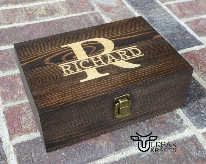 Groomsmen Gift Wooden Box, Groomsmen Proposal Wood Box, Wedding Gift Box, Father of the Bride Gift, Keepsake Box, Small Wooden Gift Box