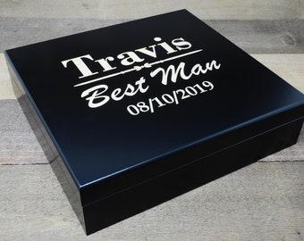 Humidor Cigar Box, Wooden Cigar Box with Humidor, Wooden Humidor Cigar Box, Custom Cigar Humidor, Custom Cigar Box, Gift for Cigar Lover