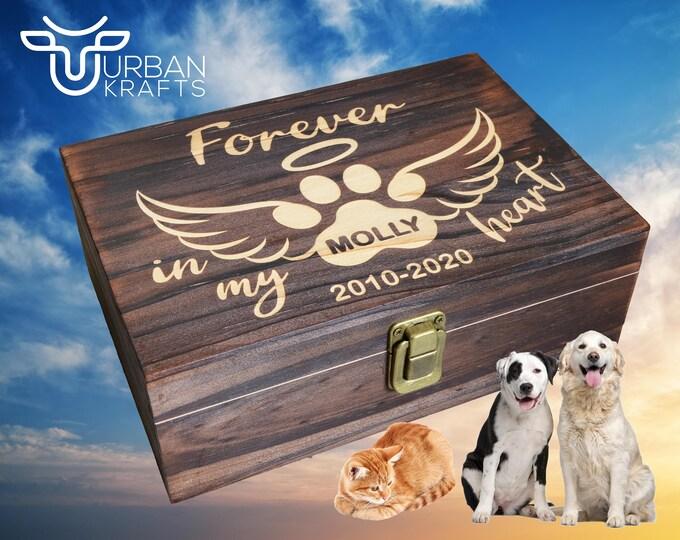 Pet Memorial Box, Dog Memorial, Pet Urn, Cat Memorial, Dog Urns for Ashes, Pet Loss Gift, Pet Memory Box, Pet Sympathy Gift