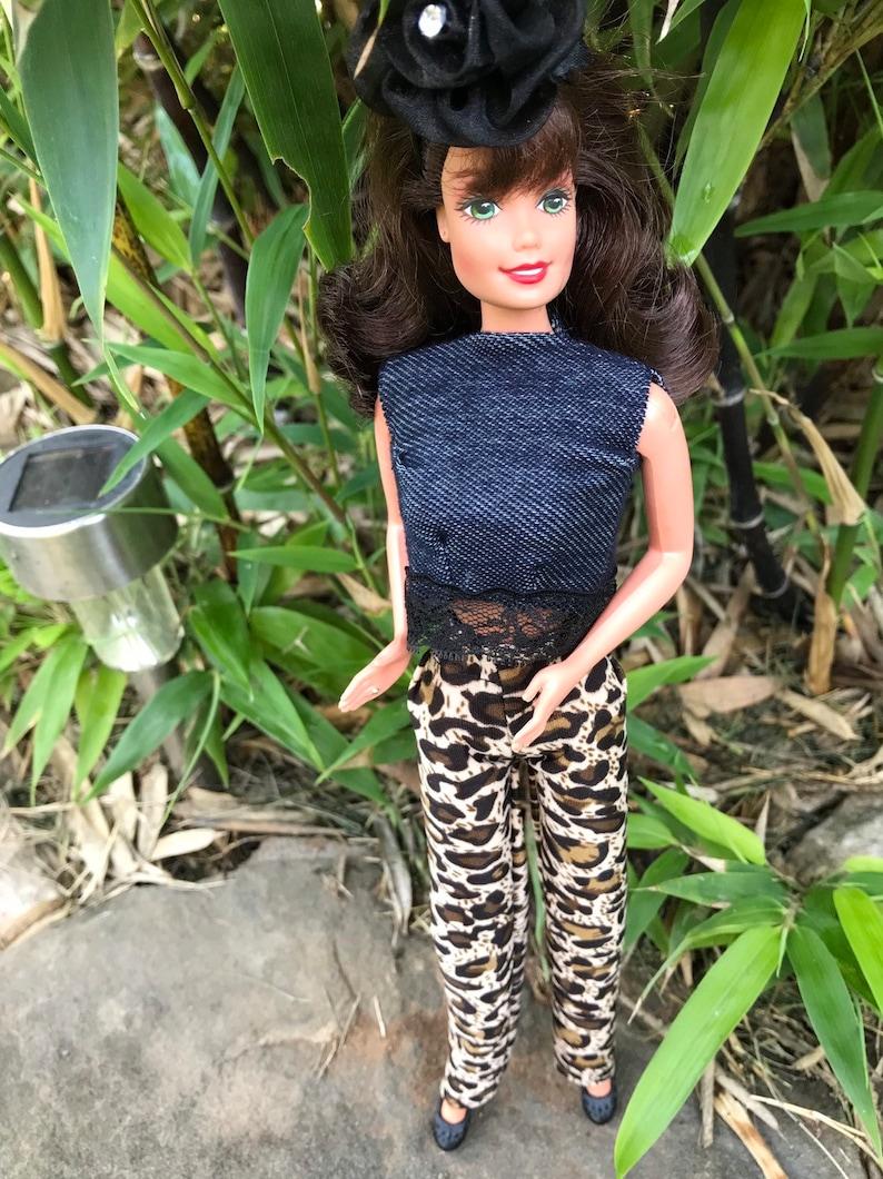 cfa576d7f2b2 Barbie Clothes/Barbie Doll Outfit Denim 'n Lace Top | Etsy
