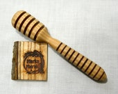 Ash Honey Dipper/Drizzler Handcrafted on Lathe