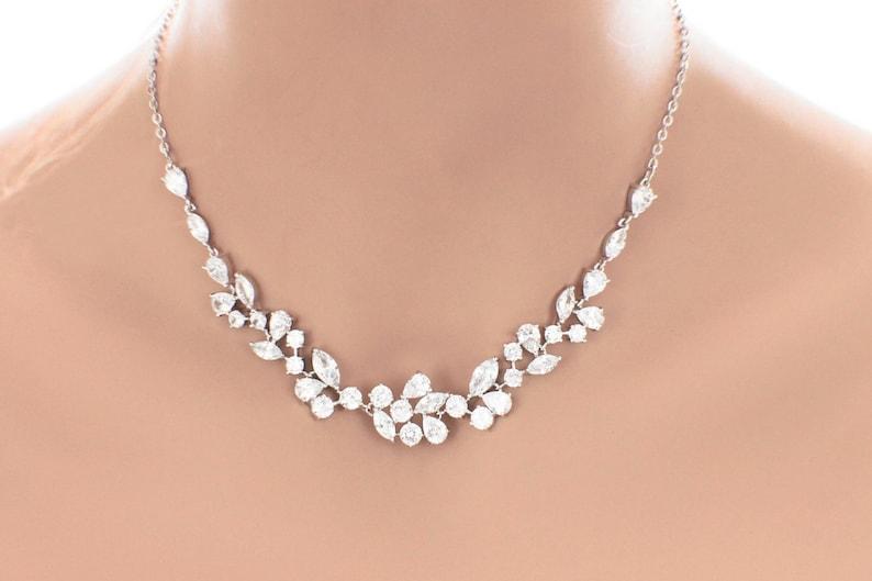 5d2889b0815 Crystal wedding necklace crystal wedding jewelry Swarovski | Etsy