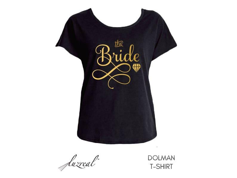 f0013bf9 Black Gold Lettering Bride Shirt Boho Bride Shirt Bridal | Etsy