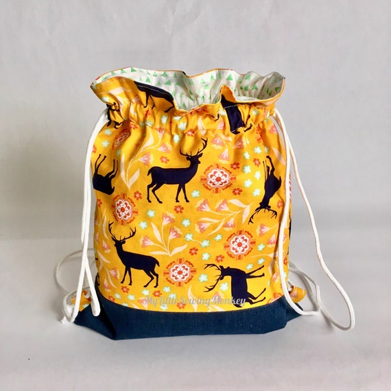 Pdf Sewing Pattern Lake Forest Drawstring Backpack Sewing Diy Sewing Tutorial Sewing How To