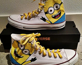 Kid s and Adult Minion s Chuck Taylor Hi Top Converse a36ef53f6