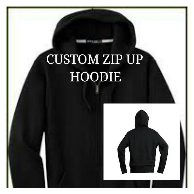 98c0d719c Adult Unisex Custom Zip Up Hoodie   Etsy