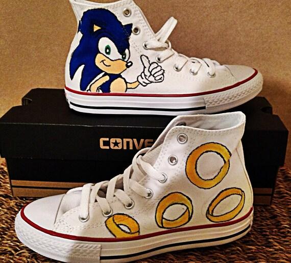 6bbc2363124b Kid s Custom Converse Chuck Taylor Sonic the Hedgehog Hi