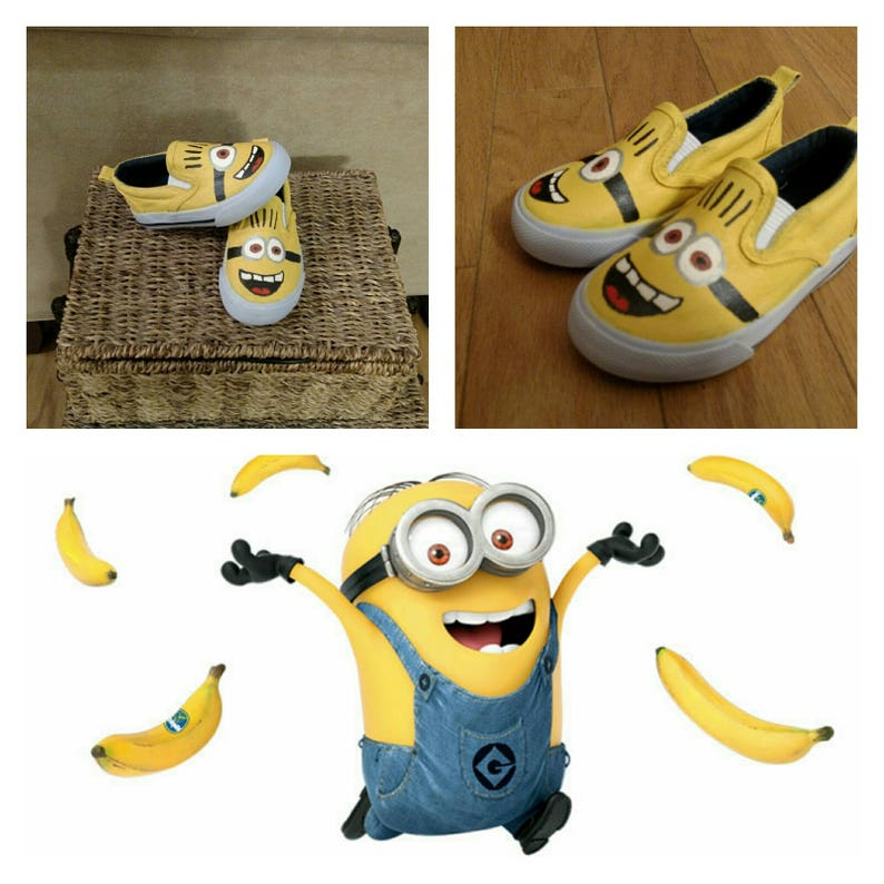 de8000bb6739 Kid s and Adult Minions Slip on Shoes