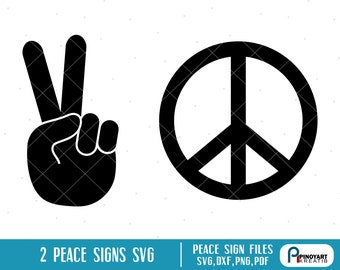 Peace Sign Svg Etsy