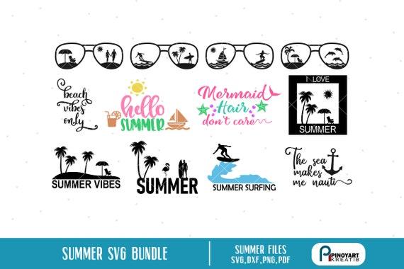 Summer Svg, Summer Vibes Svg, Beach Vibes Svg, Hello Summer Svg, Mermaid  Hair Don't Care Svg, Beach Svg, Surfing Svg, Surfer Svg, Svg, Dxf