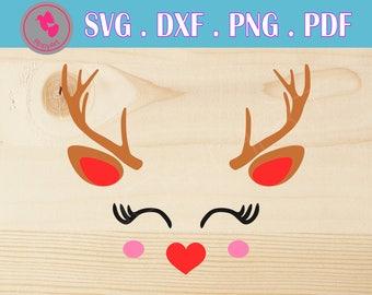 deer svg, deer svg, deer svg file, deer svg files for cricut, reindeer svg, reindeer svg file, deer dxf file, deer antler svg file, antler