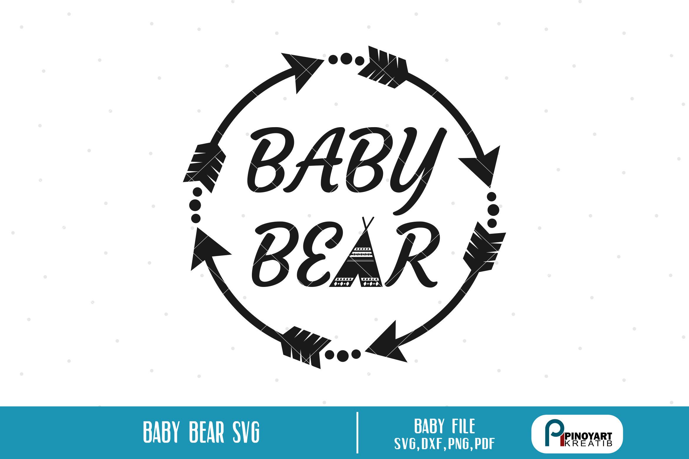 Baby Bear Svg Baby Bear Clip Art Baby Svg Baby Clip Art Etsy