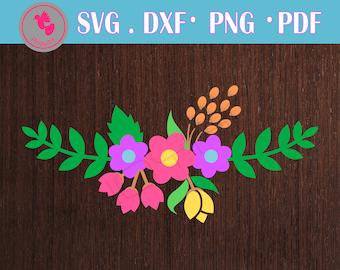 flower svg, flower svg, flower svg file, flower svg files for cricut, flower dxf, flower cut file, flower clip art, floral svg, floral svg