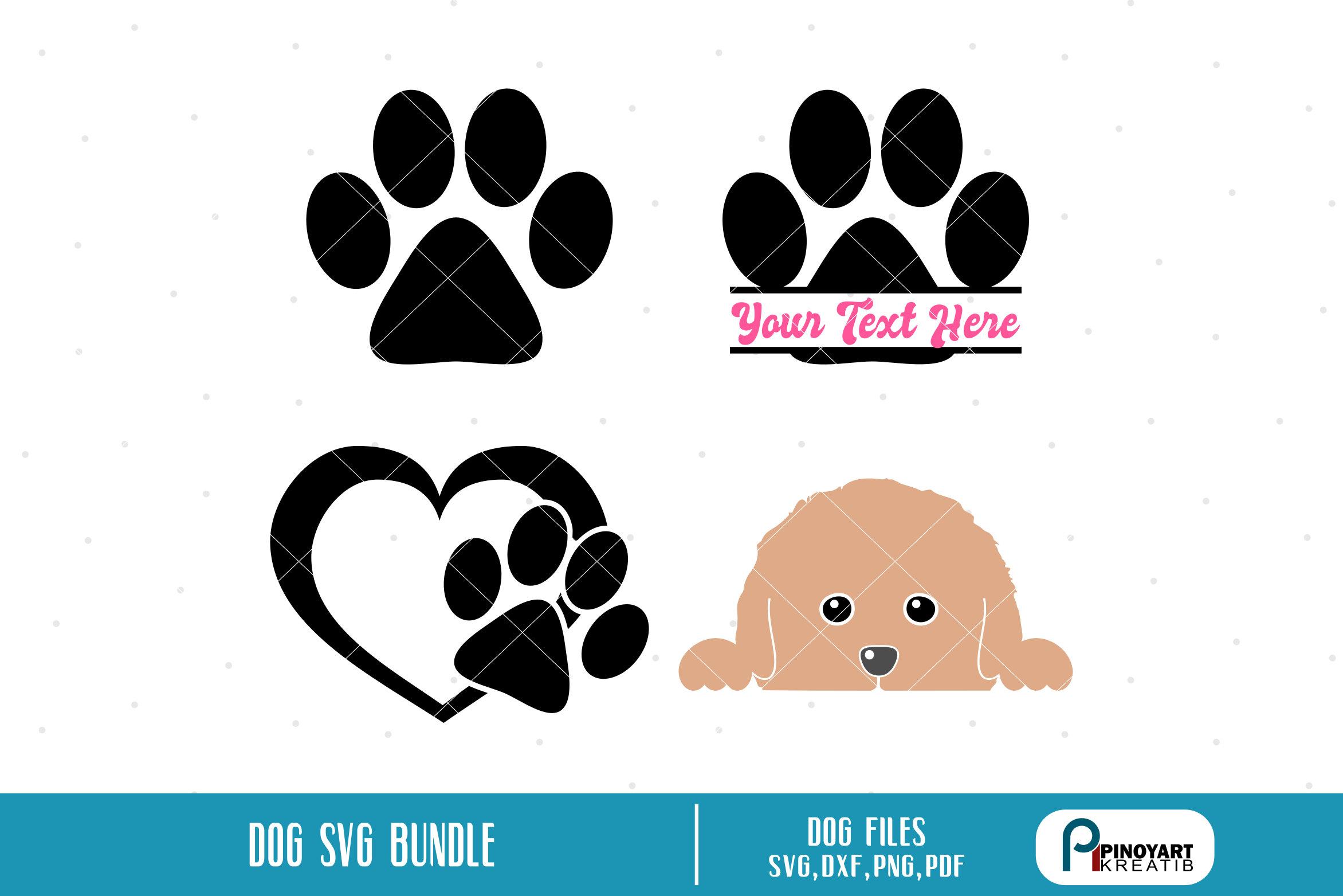 Download paw svg file paw prints svg dog svg file dog clip art | Etsy