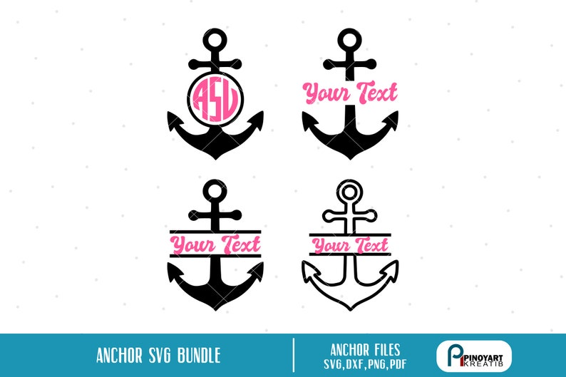 Anchor Monogram Svg, Anchor Svg, Beach Svg, Anchor Clip Art, Anchor  Graphics, Anchor Prints, Anchor Cut File, Beach Monogram Svg, Svg, Dxf