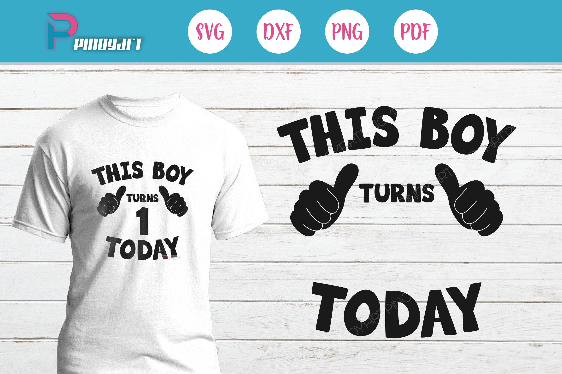 My First Birthday Shirt For Boy