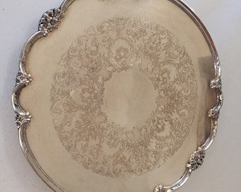 Silverplate Serving Tray 14 inch